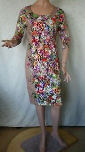 SIZE-12, MOSS & SPY Stretch Knit Dress Made in Australia.