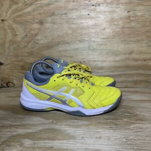 ASICS GEL-Dedicate 6 Tennis Shoes Womens Size 8.5 Yellow Gray White 1042A067