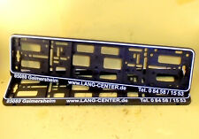 LANG-CENTER 2x Kennzeichenhalter Kennzeichenverstärker schwarz / weiße Schrift
