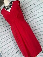 *BNWT* BODEN Red Pure Silk Straight Shift Dress Sz 10 R Summer / b10