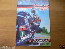1986 JOHNSON GRAND PRIX BELGIUM SPA FRANCORCHAMPS 6-7-1986 PROGRAMMA POSTER JOHN