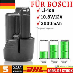3.0AH 10.8V/12V Li-Ion Akku für Bosch BAT411 BAT412 GSR GDR GSB GSA 2607336013