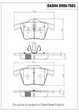 Disc Brake Pad Set-PREMIUM SEMI METALLIC PADS Rear MFD980 fits 03-14 Volvo XC90