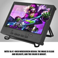 7″ Portable Monitor 1024x600 Multi-function Screen Display Support HDMI/VGA/AV