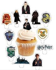 HARRY POTTER  X24 edible stand up cup cake toppers wafer paper *PRE-CUT*