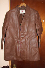 Offenbach Cowboy Germany Brown Leather Men's Jacket Size 44