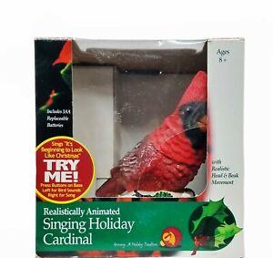Gemmy Realistically Animated Singing Holiday Cardinal Bird Christmas w Box 2000