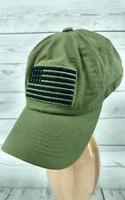 USA US U.S. America American Flag Green Patch Olive Baseball Cap Hat