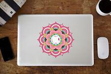 "Pink Mandala Flower Decal Sticker for Apple MacBook Air/Pro Laptop 13"" 15"""