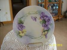 PSL Imperial Empire Pfeiffer & Lowenstein Factory Vintage Porcelain Violet Plate