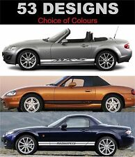 MAZDA mx5 Side Stripe Decals Choix De Design Fit mx5