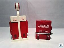 COCA COLA GAS PUMP SALT PEPPER SHAKERS AND TOOTHPICK DISPENSER