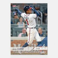 2018 TOPPS NOW #446 6TH PLAYER AGE 21 OR YOUNGER TO HIT 20 HRS OZZIE ALBIES