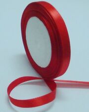 """Free shipping 1/4""""25yds Red Satin Ribbon Wedding Party Bow Craft Supply"""