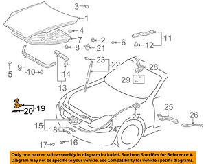53550-24020 Toyota Hook assy, hood auxiliary catch 5355024020, New Genuine OEM P