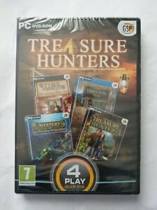 Treasure Hunters (PC GAME) NEW & SEALED 4 Play Collection PC DVD-ROM Computer