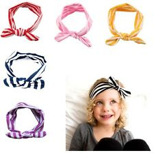 Cute Baby Toddler Girl Kids Elastic Hairband Turban Knot Rabbit Ear Headband hai