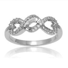 10k White Gold Diamond Infinity Ring Size 7 Below Cost!!!