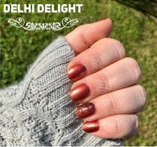 Color Street DELHI DELIGHT (Orange Copper Shimmer Black Paisley Autumn Fall)