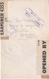 G.B.  1944 {May} D-Day Period RtS cachet and censored {See Below}