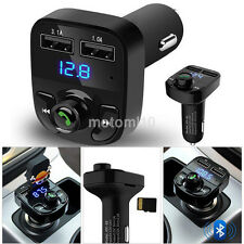 Bluetooth Car Kit Audio Adapter Handsfree FM Transmitter for iPhone Samsung Sony