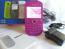 Nokia Asha 201 - Pink (Unlocked) Smartphone Mobile - Boxed with accessories