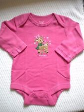 New Baby Gap Girls One Piece Bodysuit 3-6 months Little Dear Long Sleeves