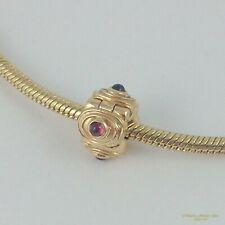 14K Yellow Gold RETIRED PANDORA ALE Hypnotize w/ Rhodolite Clip Charm #750804RH