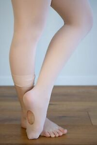 Dance Tights BALLET PINK CONVERTIBLE Sizes Toddler - Extra Large Adult  ON SALE!