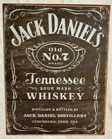 Jack Daniel's Old No 7 Tennessee Whiskey Rustic Tin Sign