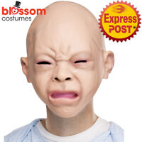 AC282 Cry Baby Halloween Costume Mask Funny Latex Crying Tears Tricks Baby Face