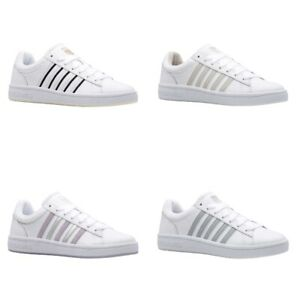 K-Swiss Court Winston Damen Sneaker | Turnschuh | Sportschuh | Leder, Textil - N