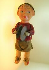 "VINTAGE LITTLE CYMBALIST/DRUMMER WIND UP TOY  - WORKING - 9"" TALL - BEST OFFER!!"