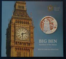 More details for one hundred pounds £100 2015 big ben .999 silver royal mint pack