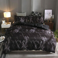 3pcs Bedding Set Printed Marble Bed Duvet Cover Quilt Covers Comfort Queen King