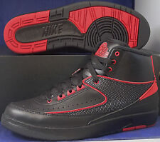 Nike Air Jordan 2 II Retro Alternate 87 Black Varsity Red SZ 10 ( 834274-001 )