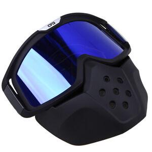 Motorcycle Goggles Half Face Mask Anti-Wind Eyewear Glasses Off Road Dirtbike
