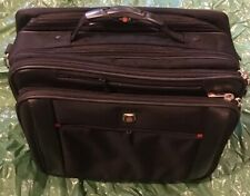 "Swiss Gear Wenger Carry On Laptop Luggage Briefcase Rolling Wheeled Bag 17""x 15"""
