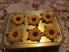 "MULBERRY PAPER LOOSE SUNFLOWERS APPROX 1"" ACROSS IN PACKS OF 25 YELLOW"
