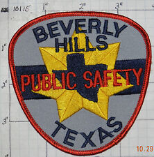 TEXAS, BEVERLY HILLS PUBLIC SAFETY POLICE DEPT PATCH