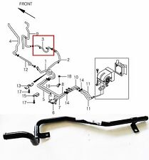 OEM Genuine Rear Water Outlet Pipe ASSY Ssangyong ISTANA #6613013037