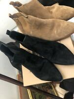 Gap Size 8 Brown Suede Boots+ Black Forever 21 Suede Boots