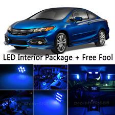 7X Bulb LED Interior Lights Package kit For 2006-2008 Honda Civic Coupe Blue NQ