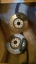 VW GOLF R MK7 COMPLETE FRONT BRAKE CALIPERS DISCS GENUINE CADDY TRANSPORTER GTI