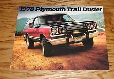 Original 1978 Plymouth Trail Duster Sales Brochure 78