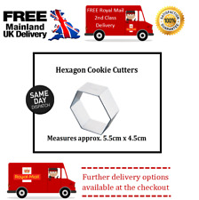 Small Hexagon  Cookie Cutter ideal for fondant icing decorating