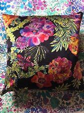 BEAUTIFUL LIBERTY ARTS VELVET PRINT CUSHION PILLOW JEFFERY ROSE FLOWERS FABRIC 6
