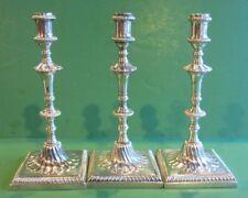 E Coker  John Carter II Antique Sterling Candlestick Set/3 Georgian III Ca 1770