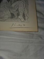 Picasso Vollard Suite Lithograph Hand Signed Original 1956 Nudes