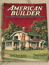 Oct 1922 American Builder Magazine - Color Home Designs & Tons of Ads
